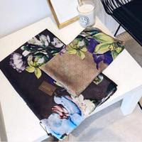poncho de moda da primavera venda por atacado-Venda de alta qualidade high-end designers de luxo lenço de seda da moda senhora primavera e verão novo lenço impresso 180 * 90 cm D005