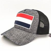 gorras americanas para mujeres al por mayor-Sombreros de béisbol de malla de verano Marca de moda Ajustable Caps Snapback Estilos americanos Lujo Sombrero de sol Hombres Mujeres Casquillo de la bola de golf al aire libre