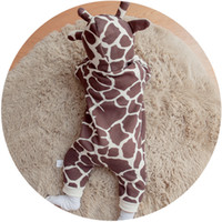 Wholesale thick rompers for sale - Group buy Dly074 Newborn Clothing Solid Thick Hooded Baby Warm Fall And Winter Clothes Jumpsuit Animal Style Cartoon Rompers Cotton J190524
