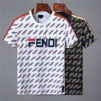 f674f09ed 2019 nuevo diseñador de calidad de algodón nuevo O cuello manga corta  camiseta de la marca de impresión de los hombres y las mujeres camiseta  estilo de la ...