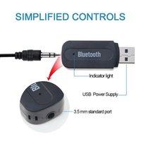 iphone araba kablosu toptan satış-Bluetooth AUX Stereo Müzik USB Bluetooth Araç Müzik Alıcısı Dongle Kiti Ses Kablosu ile iPhone Araç Adaptörü için