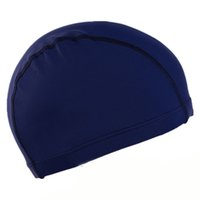 siyah likralı kumaş toptan satış-Ücretsiz Boyutu Yetişkin Banyo Kapakları Kumaş Kulakları Uzun Saç Korumak Spor Siwm Havuzu Yüzme Kap Şapka Yetişkin Erkek Kadın Sportif