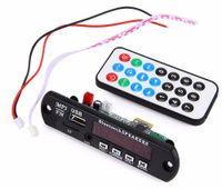 módulos amplificadores de audio al por mayor-Módulo de decodificador de audio inalámbrico Amplificador para coche Módulo de placa de decodificación de MP3 Bluetooth Radio FM USB TF AUX Control remoto para vehículo Envío gratis