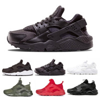 Wholesale red soled mens shoes online - 2019 Huarache Ultra Hurache Running Shoes for men sole Triple White Black Huraches Sports Huaraches Sneakers Harache Mens designer shoes