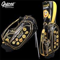 homem saco emoji venda por atacado-[2 cores] saco de golfe carrinho de couro Pu Emoji Golf Carry Bag geco Bordado Design 8-way 9