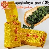 ingrosso anxi tie guan yin-2019 anni 250g tè cinese Anxi Tieguanyin di grado superiore, Oolong, tè Tie Guan Yin, tè assistenza sanitaria, sottovuoto, spedizione gratuita, raccomandare