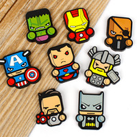 Wholesale perfume hot sale resale online - Cartoon Car Air Freshener Comic The Avengers Perfume Clip Lovely Except Odor Home Decorate Multiple Styles Hot Sales hc C1