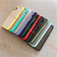 Wholesale clear simple iphone case online – custom Mint Hybrid Simple Matte Bumper Phone Case for Iphone Pro Max Xr Xs Max s Plus Shockproof Soft Silicone Cover