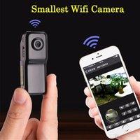 Wholesale small p2p camera for sale - Group buy Mini MD81S Camera Camcorder Wifi IP P2P Wireless DV Camera Secret Recording CCTV Android iOS Smallest Wifi Camcorder Video Espia Nanny