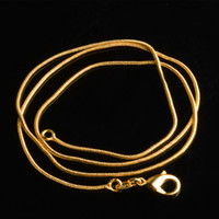 Wholesale gold plated 1mm snake chain for sale - Group buy Hot Sale K Gold Plated Snake Bone Chain mm Clavicle Chain Copper Chain Size inch