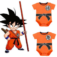 Wholesale costumes for newborn resale online - Halloween Baby Rompers Summer Newborn Baby Short Clothe SON GOKU Toddler Jumpsuit Halloween Costumes Dragon Ball For Baby Boy Girl Clothes