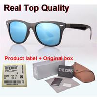 eyewear scharniert groihandel-Markendesigner (Glaslinse) Sonnenbrille Männer Frauen Metallscharnier Mode Vintage UV400 Spiegel Retro Sonnenbrille Brillen mit freiem Kasten und Fällen