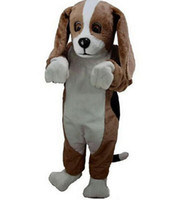 mascotas de navidad al por mayor-Los trajes de la mascota de Basset Hound para el traje adulto de Navidad de Halloween del animal ayunan encargo