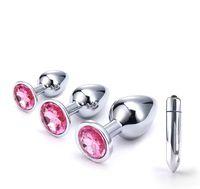 vibratoren perlen großhandel-Erotische Massagegerät Edelstahl Frau Vaginal Butt Plug Vibrator Sex Produkte Anal Plug Dildo Perlen Sex Toy Vagina Insert