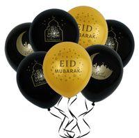yeni yıl için balon dekorasyonu toptan satış-DHL Eid mubarak Balonlar Mutlu Eid Balonlar İslam Yeni Yıl Dekorasyon Mutlu Ramazan Müslüman Festivali Dekorasyon Ücretsiz Kargo