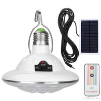 Wholesale ufo remote control for sale - Group buy Waterproof LED Solar Light Outdoor Garden Light Solar Powered Yard Hiking Tent Camping Hanging Lamp Remote Control UFO lamp