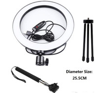 sale Lightdow Dimmable LED Studio Camera Ring Light Photo Phone Video Light Lamp With Tripods Selfie Stick Ring Fill Light For Canon Camera