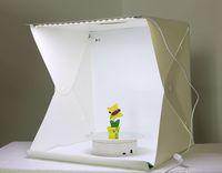 ingrosso il pulsante ha acceso le luci piccole-Lightbox di piccole dimensioni di grandi dimensioni Foto fotografia Studio Softbox LED Light Soft Box Foto di sfondo Kit Light box Tipo di pulsante