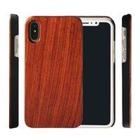 ahşap kasa tasarımı toptan satış-Sıcak Tasarım Ahşap Cep Telefonu Kılıfı Iphone X XS XR 7 8 artı Özel El Yapımı Ahşap Kapak Darbeye Tampon Kılıfları Samsung Galaxy S9 S10 S8