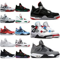 Wholesale sneakers for gym resale online - 4 Cool Grey s OG Bred For Men Basketball Shoes White Cement Fire Red Tattoo Trainer Athletic Sport Sneakers Size