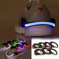 Wholesale clip night light resale online - Novel Lighting Night Running LED Shoes Clip Safety Signal plastic LED shoes Clips flash luminous Light outdoor safety Shoes Clip