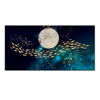 Wholesale wall fish panel for sale - Group buy Wall Art Gifts Hot series Modern Abstract Gold Feng Shui Koi Fish Painting Printed On Canvas Picture office Living Room Home Decor BFS4023