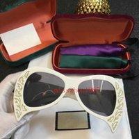 eyewear frames schmetterling stil großhandel-0143 sonnenbrillen mit boxen die neuesten frauen butterfly print rahmen mode avantgarde stil top qualität uv-schutz eyewear