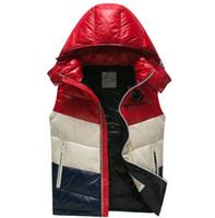 chaquetas de talla grande al por mayor-Moda pato abajo chaleco Chopping Mens diseñador chaquetas caliente de alta calidad de lujo con capucha delgada y ligera con cremallera diseñador chaleco más el tamaño 1-5