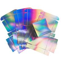 silla de papel de boda cajas de dulces al por mayor-Holográfica Caja de regalo para el partido, la caja de recuerdo de la boda, 2 disponible, 20pcs / lot