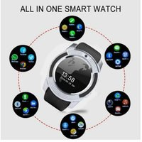 Wholesale ladies smart watches resale online - 2019 NEW Smart Watch V8 Men Bluetooth Sport Watches Women Ladies Rel gio Smartwatch with Camera Sim Card Slot Android Phone