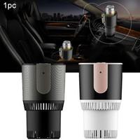 Wholesale 12v car mug resale online - Smart Warmer Accessories Refrigerator Electric Beverage Holder Coffee Car Cup Cooler Fast Interior V Auto Travel Mug Gift