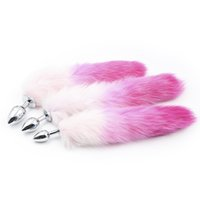 Wholesale butt plug tail slave resale online - New Arrival Metal Anal Sex Toys Butt Plug With Feather Tail Adult Slave BDSM Sex Products Backyard Sex Toys