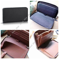 Wholesale travel phone holder for sale - Group buy Aber Zippy Organizer Long wallets Women Real leather travel wallet Top Popular Customization women wallets clutch chequebook Passport Holder