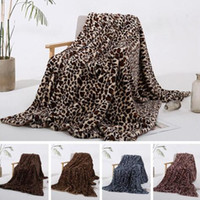 Wholesale couch decor for sale - Group buy Fashion Leopard Grain Blanket Coral Fleece Winter Warm Blankets Couch Sofa Home Decor Blanket Europe United Baby Quilt WY187Q