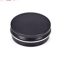 kozmetik kutuları toptan satış-Doldurulabilir Alüminyum kavanozlara 60g Siyah Altın Metal Teneke Kozmetik Konteynerleri El Packaging Küçük Alüminyum Kutu 200pcs boşaltın 60ml