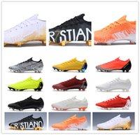 topuk ayakkabıları kız çocukları toptan satış-2019 Düşük Topuk Erkekler Mercurial Superfly VI 360 Elite FG Futbol Ayakkabıları Çocuk Boy Kız CR7 Neymar FG Futbol Cleats Ronaldo Kadın Futbol Çizmeler