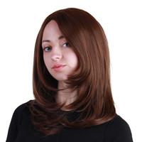 ingrosso parrucca calda della ragazza-2018 vendita calda media lunghezza del corpo moda naturale parrucche sintetiche ad alta temperatura capelli per accessori per capelli ragazza per acconciature