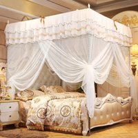 Wholesale adult princess beds for sale - Group buy Luxury Princess Corners Post Bed Canopy Mosquito Net Bedroom Mosquito Netting Bed Curtain Canopy Netting