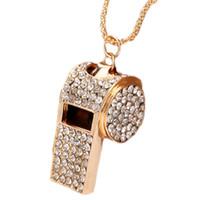 venda de joalharia de strass venda por atacado-1 peça cristal apito colar supernova venda completa strass bijuterias