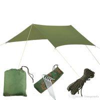 toldo de camping al por mayor-49sq tela de nylon ultraligero Sun refugio para picnic estera de la playa Tiendas de campaña Pergola Toldo Toldo 210T tafetán Lona Sunshelter
