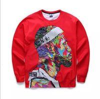 sudadera roja con cuello redondo al por mayor-Sudadera 3D Impreso Cool Hoodie para Hombres Mujeres Sudadera Con Capucha Roja Creativa Streetwear Crewneck Tops Tamaño S-XL