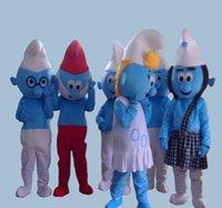 ingrosso cinese vestito di natale-2018 vendita diretta della fabbrica del vestito operato dal blu bello Puffi Grande Puffo del costume della mascotte del partito del fumetto di Halloween costume factory45