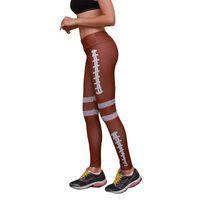 женские брюки с трусами оптовых-Женская йога гетры софтбол Леггинсы Центр йоги штаны высокой талией тренировки Узкие брюки Спортивные брюки Спортивные GGA2693