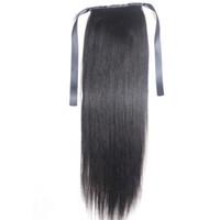естественное расширение клипа оптовых-9а хвост клипы в наращивание человеческих волос хвощ перуанский малайзийский Индийский бразильский девственница Реми прямые волосы натуральный цвет блондинка 613#
