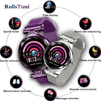 Wholesale pedometer gift online – GIMTO H1 Smart Watch Women Luxury Heart Rate Monitor Smartwatch Lady Gift Fitness Bracelet Pedometer for IOS Android Phone box