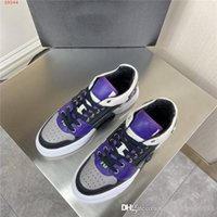 Wholesale skull ankle boots for sale - Group buy Mens Classic Metal Skull sports casual shoes multi material splice mixed color thick sole low top sports shoes Original packaging