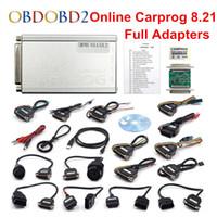 ремонт инструмента ecu оптовых-DHL Free Auto Repair Tool CARPROG V10.93 Или V8.21 OBD2 ECU программист автомобиля Prog 8.21 10.93 онлайн-версия с 21 адаптеров