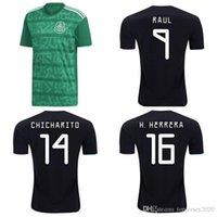 oro tailandés al por mayor-Tailandesa 2019 camisetas de fútbol 2020 Copa de Oro México 19 20 CHICHARITO Layun CHUCKY camiseta de fútbol G DOS SANTOS LOZANO camiseta Camisas de futebol