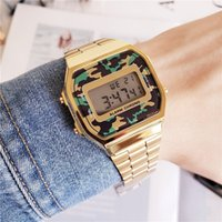 Wholesale military electronics resale online - Selling high quality DZ7333 casual fashion unisex watch Steel band LED military digital electronic watch