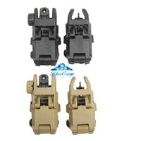 Wholesale front rear sight black resale online - Rear Sight Gear GEN Front and Rear Back Up Sight Set Tan or Black Color